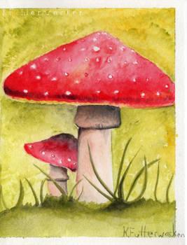 Mushroom Watercolor Card
