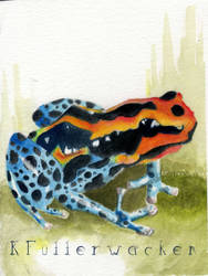 Frog Watercolor Card