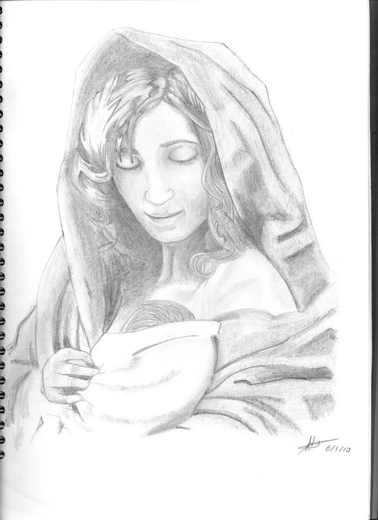 virgin maria and baby jesus by inu 120 on deviantart