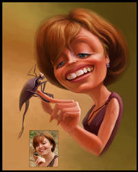 Caricature for a friend by creaturedesign