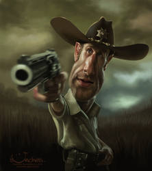 Rick Grimes from 'The Walking Dead'.