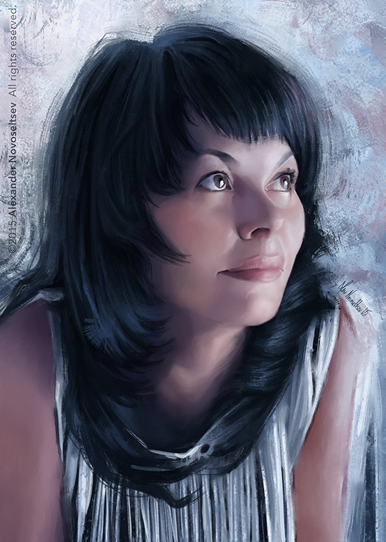 Portrait of a woman by creaturedesign