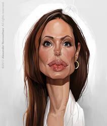 Angelina Jolie by creaturedesign
