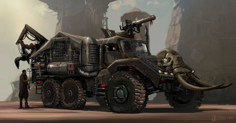 Post-Apocalyptic Hunting Truck