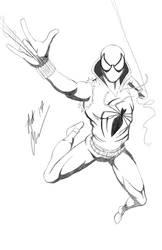 Scarlet Spider sketch by RoninH5X