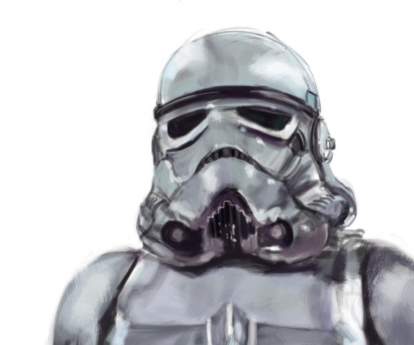 Stormtrooper speedpaint by NathanDeJong
