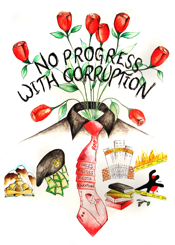 Anti Corruption Poster 01 by hussani on DeviantArt
