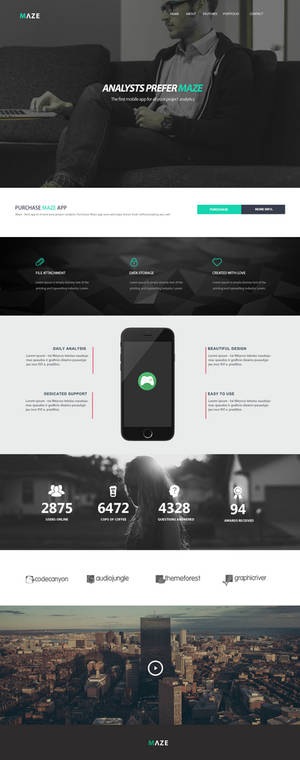 MAZE responsive web design