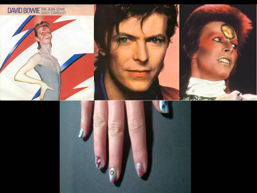 David Bowie Nail Art 18 by vukery