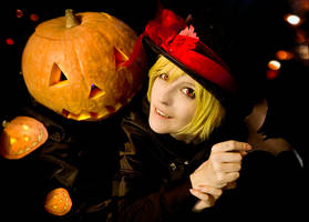 Len Kagamine: Halloween by WiseKumagoro