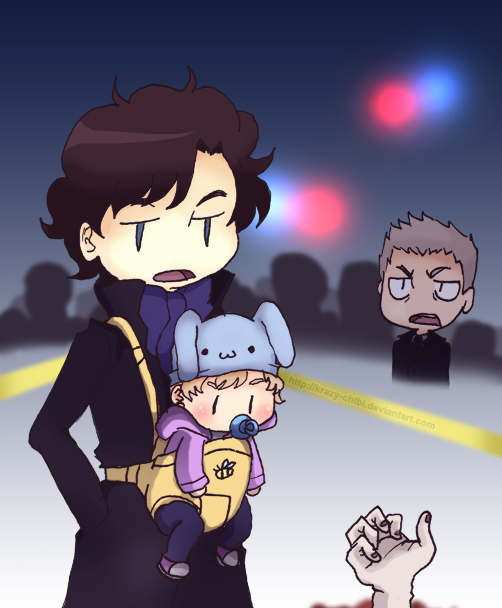 Babysitting with Sherlock by Krazy-Chibi