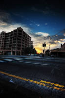 Barker St Sunset by leafinsectman