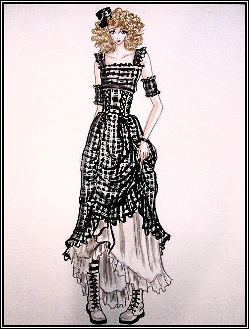 plaid gothic lolita by pandaDOLL