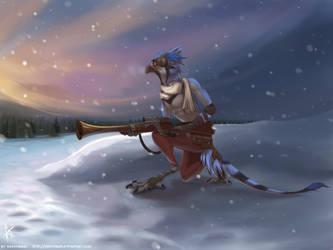Snowy Guardian by Shesterrni