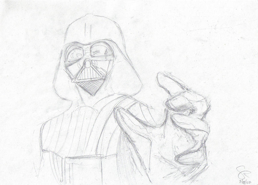 Darth Vader sketch by Emily89 on DeviantArt