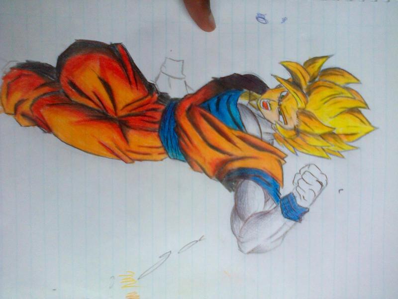 Goku Colour Drawing By Amusoke On Deviantart Colour Drawing