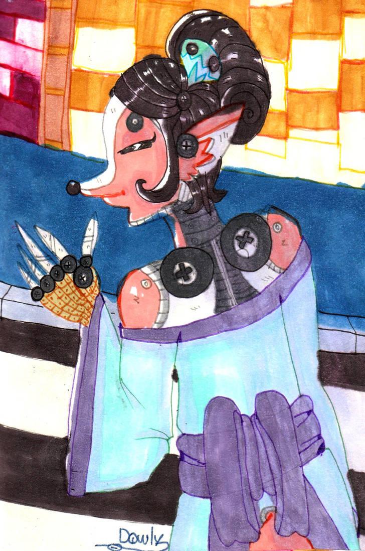 Illustration - Robot Kitsune