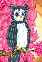 Illustration - Cherry owl
