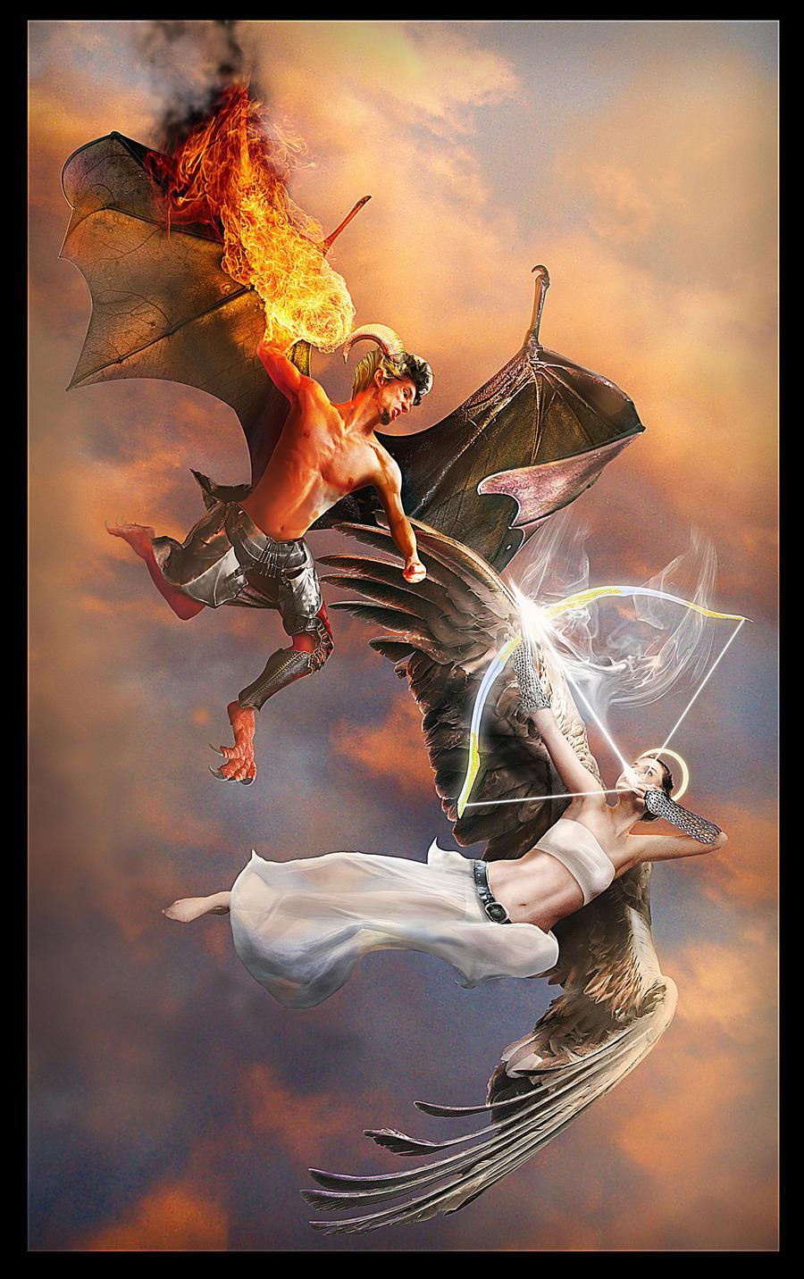 Evil vs. Good by Heat-Phoenix