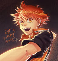 Hinata Birthday Fanart by nururuateka