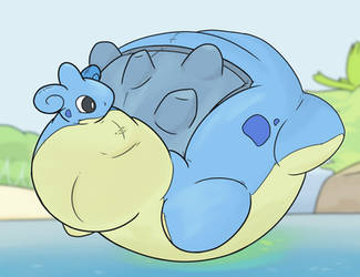 Lapras Seaside Balloon by AreoAnts