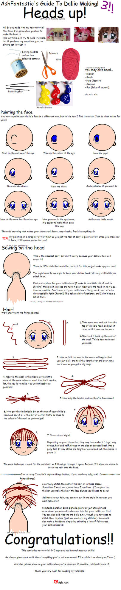 Ash's Dollie Head Tutorial by AshFantastic