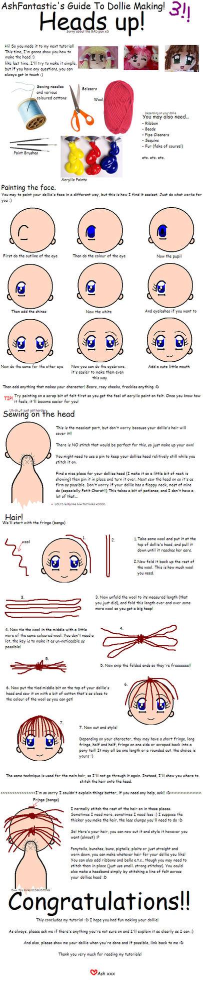 Ash's Dollie Head Tutorial by AshFantastic