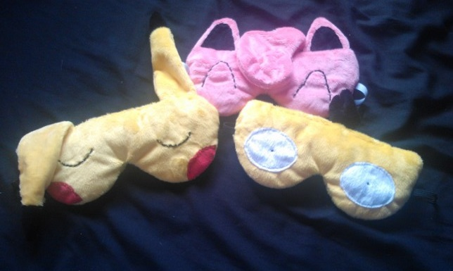 Pokemon Sleep-Masks by AshFantastic