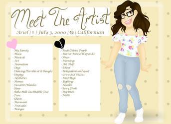 Meet The Artist by CARTOONFANATIC3