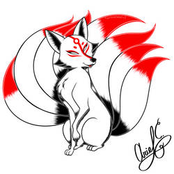 aisarinemagicink- Day 13: Kitsune