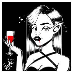 aisarinemagicink- Day 17- Vampire