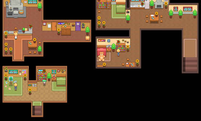 More maps (Blacksmith Services, NPC Rooms)