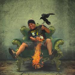 burning guitar by zarod