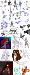 Another Huge SketchDump by Keberyna