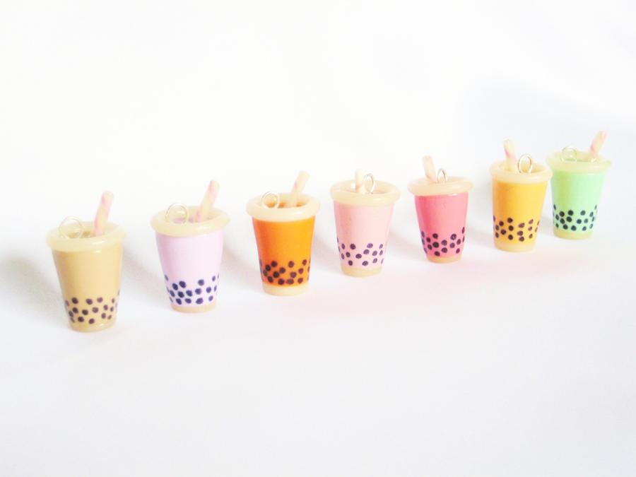 Bubble Milk Tea or Boba Tea Charm by SaphirazlilJewels on DeviantArt