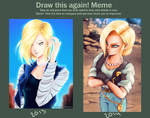 draw this again: Android 18.