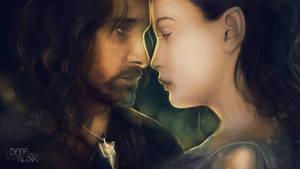 Fan-art Friday: Aragorn and Arwen