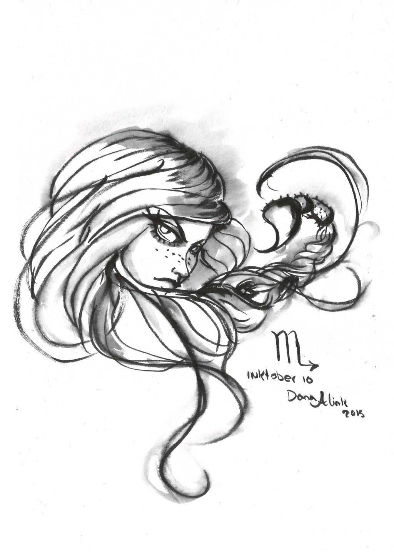 Inktober day 10 - Scorpio by Kaizoku-hime on DeviantArt