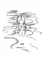 Inktober day 13 - Aquarius by Kaizoku-hime