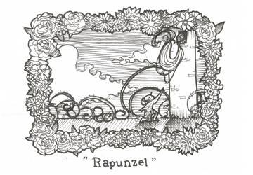 Inktober day 18 - Rapunzel by Kaizoku-hime