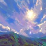 Pleinairpril - Sunny mountains