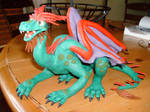 Green clay dragon