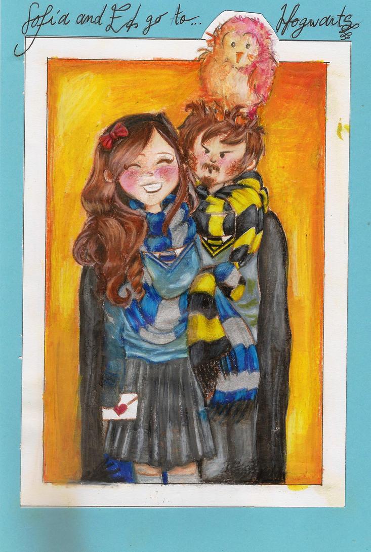 1 - Sofia and Ed go to Hogwarts by SofiaSevero