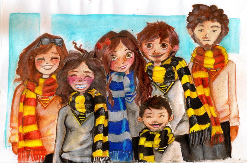Friends in Hogwarts by SofiaSevero