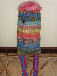 Flossy, a Loom Knitted Monster