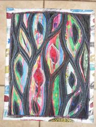 'Rainbow Gum Leaves' Wall Hanging