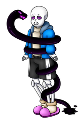 Sans and the Void Serpent by xXPurple-LoveXx
