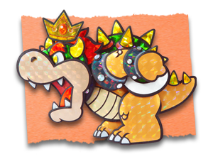 paper mario sticker star bowser design by solidsnivy97