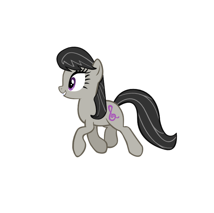 Trotting Octavia (Still Vector) by PineappleSurferMoon