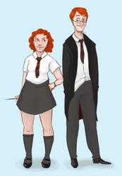 HP: Young Molly n Arthur by ShadowIZ